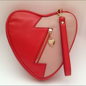 Valentine Gift Broken Heart Wristlet/Crossbody Bag